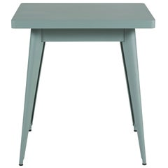 55 Square Side Table in Sage Green by Jean Pauchard & Tolix