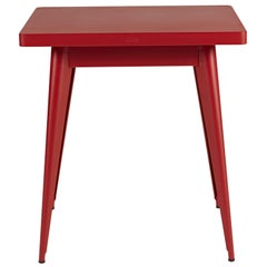 55 Square Side Table in True Red by Jean Pauchard & Tolix