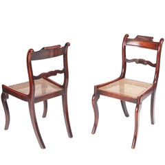 Pair of Antique Regency Mahogany Side Chairs