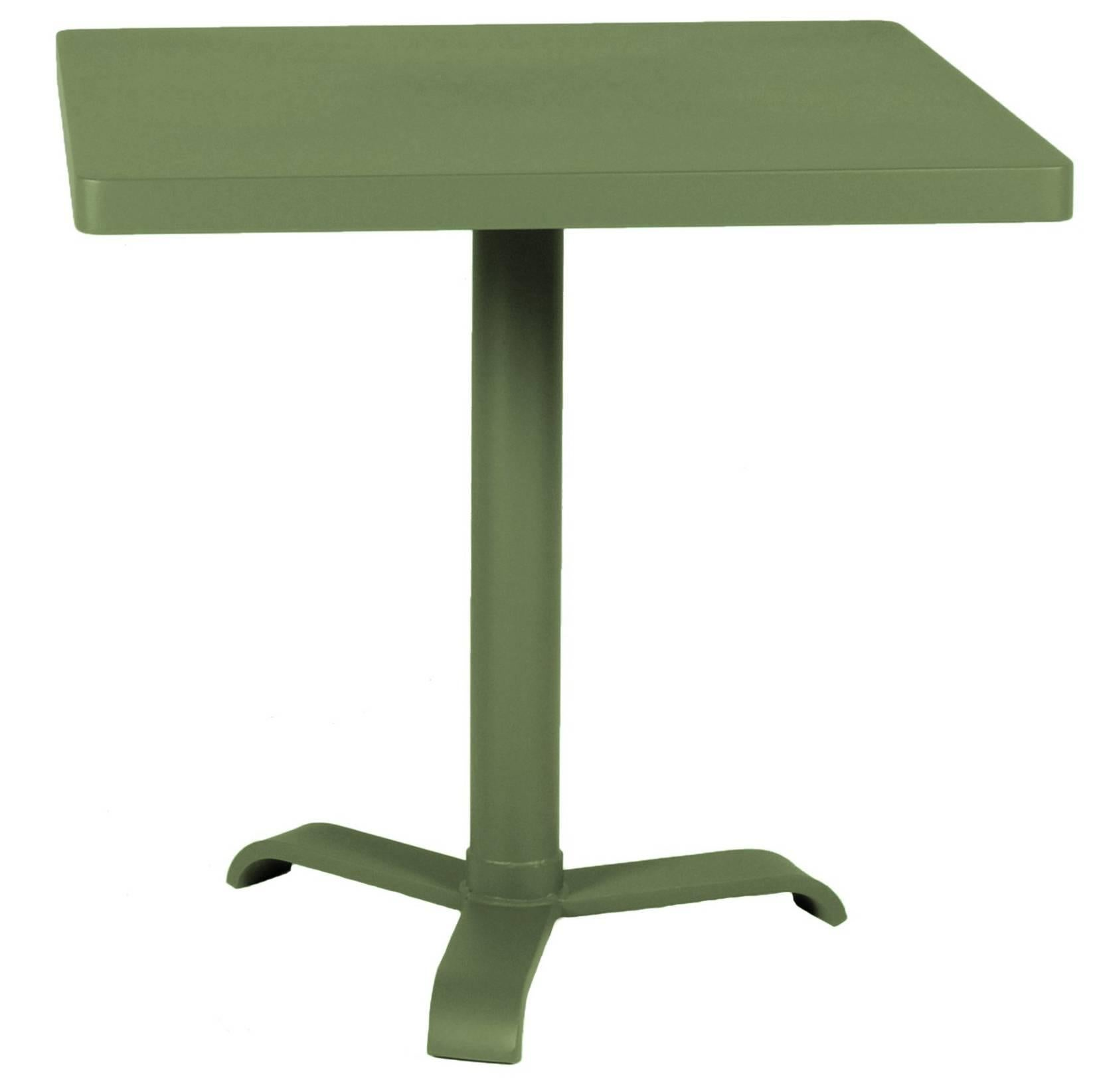 77 Square Pedestal Table In Rosemary Green By Tolix For Sale