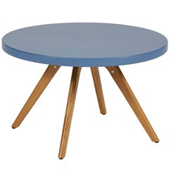 K17 Low Round Table 80 in Provence Blue by Tolix