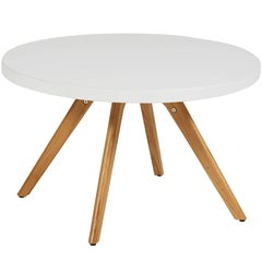 K17 Low Round Table 80 in Textured Matte White by Tolix