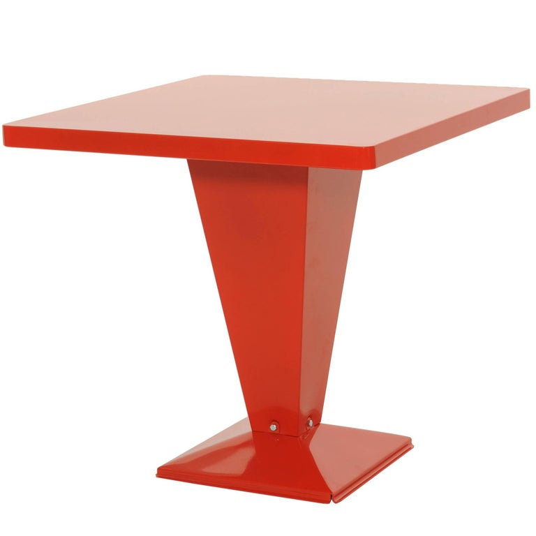 KUB Square Table 80 in Red-Orange by Xavier Pauchard & Tolix For Sale