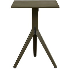 Stainless Steel N Table in Forest Green by Patrick Norguet & Tolix