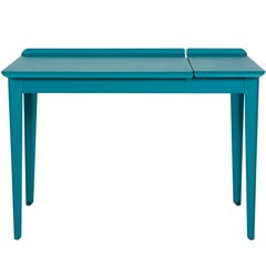 Flap Desk in Textured Matte Teal by Tolix