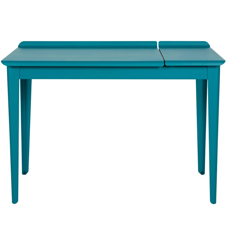 Flap Desk In Matte Teal By Tolix For