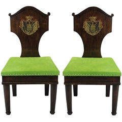 Pair of Large Hall Chairs in the Manner of Thomas Hope