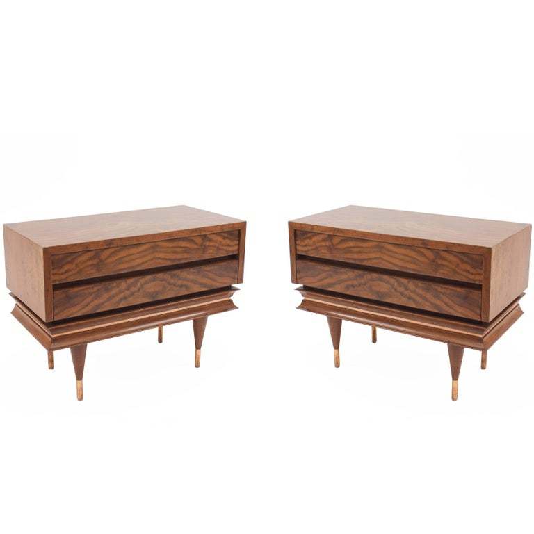 Pair of Italian Post-War Design Low Chest / End Tables