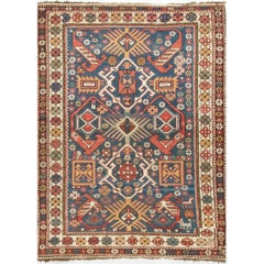 Antique Caucasian Shirvan Rug, circa 1890