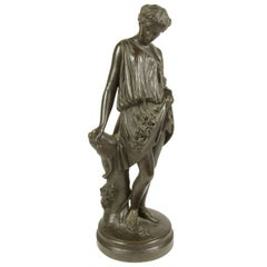 James Pradier Neoclassical Bronze Figure of Flore