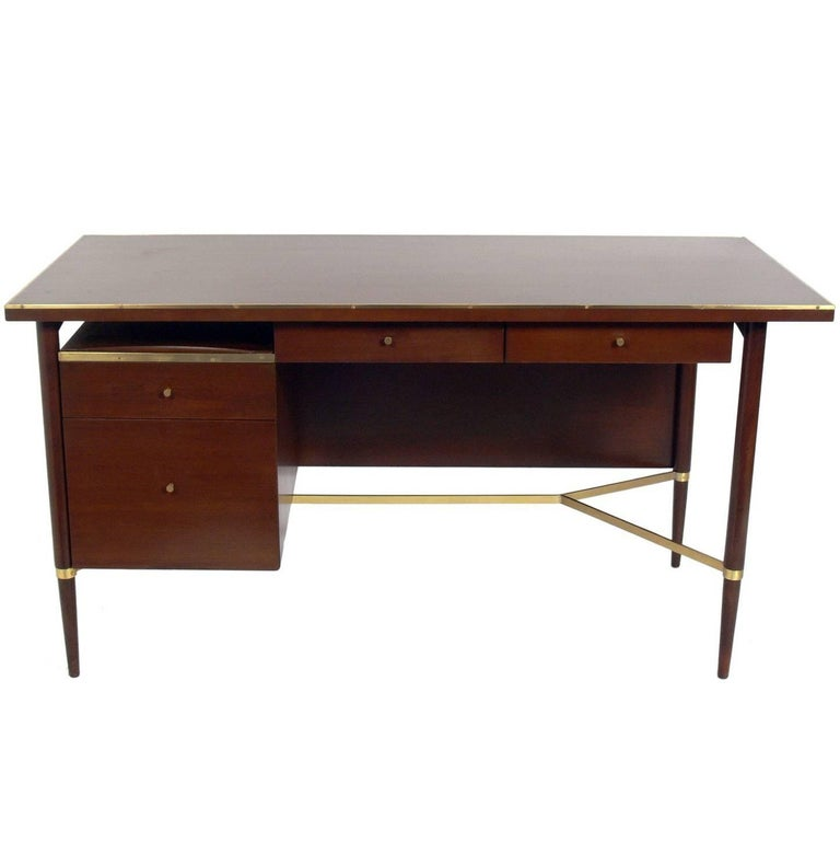 Clean Lined Modern Desk by Paul McCobb For Sale