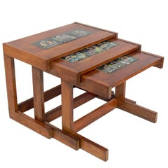 Vladimir Kagan and J. Warner Prins Inlaid Tile Nesting Tables