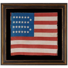 Extremely Rare, Cotton, Antique American Parade Flag with 26 Stars & 11 Stripes