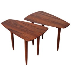 Pair of Walnut Side Tables by Ace-Hi