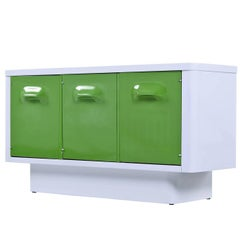 Chapter One by Broyhill Molded Plastic Green Front Sideboard Credenza, 1970s