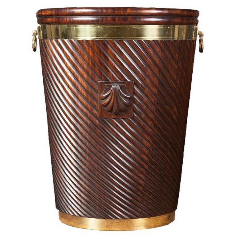 Irish Mahogany Turf Bucket For Sale