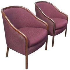 Two Midcentury Ward Bennett Brickel Lounge Chairs