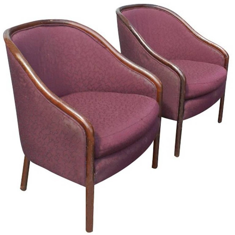 Two Midcentury Ward Bennett Brickel Lounge Chairs For Sale