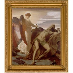 Elijah in the Wilderness by British Artist Frederic-Lord Leighton, Victorian