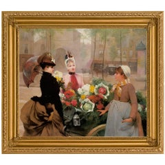La Fille De Feur, by Impressionist Artist Louis Marie De Schryver, Belle Epoque