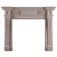 George II Style White Marble Fireplace
