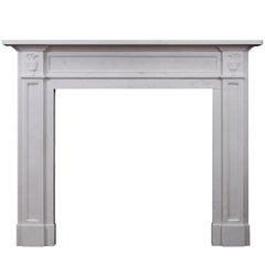 Regency Style White Marble Fireplace