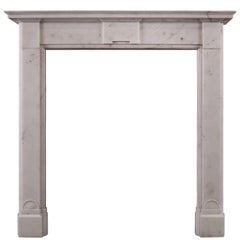 English Regency White Marble Fireplace