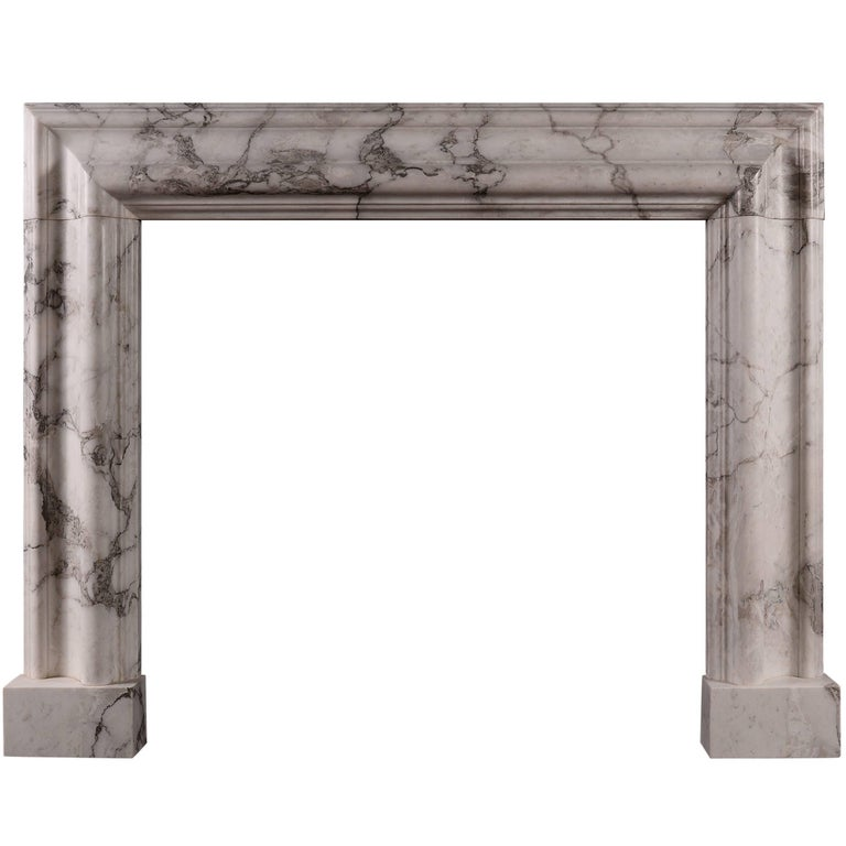 Moulded Bolection Fireplace in Arabescato Marble
