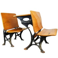 Schoolhouse Desk with Iron Legs