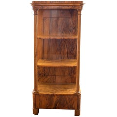 19th Century Biedermeier Walnut Pillar Etagere