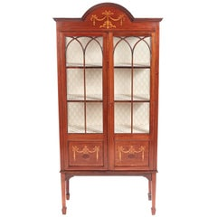 Edwardian Inlaid Mahogany Display Cabinet