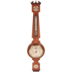 Edwardian Mahogany Aneroid Banjo Barometer