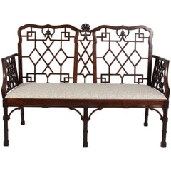 Chinese Chippendale Settees