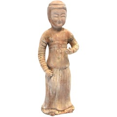 Chinese Terracotta Figure, A Governess