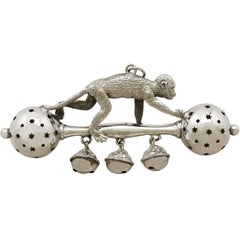 1912 Antique Sterling Silver Rattle