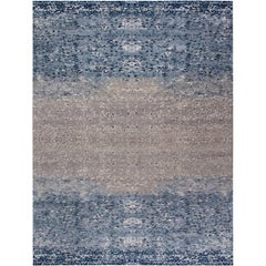 Contemporary Blue Pool Tile Rug