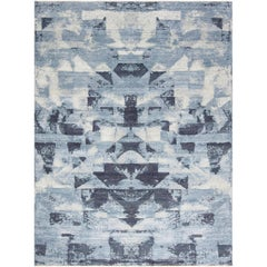 Blue Braque Abstract Rug