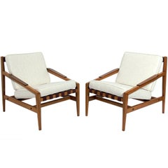 Pair of Rare Danish Modern Lounge Chairs by Ib Kofod Larsen