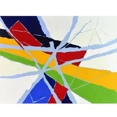 Poetic Abstract Color Composition, Original Painting by Anders Hegelund