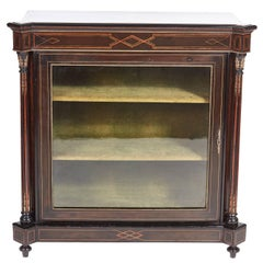 Victorian Ebonized and Inlaid Display Cabinet