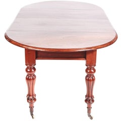 Quality William IV Mahogany Extending Dining Table