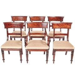 Quality Set of Six William IV Mahogany Dining Chairs