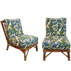 Pair of Low Bamboo Chairs
