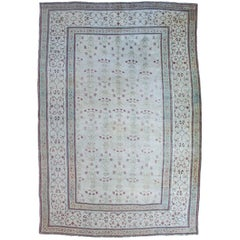 Rare Ivory Antique Agra Carpet, circa 1860