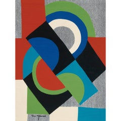 "Aubusson tapestry after Sonia Delaunay, ""Contre-point"""