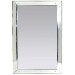 Large Scale Clean Lined Mirror