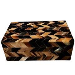 Horn Inlay Decorative Box, India, Contemporary