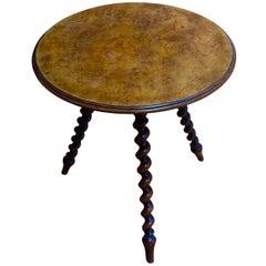 Marsh, Jones and Cribb Signed Cricket Side Table, England, circa 1880