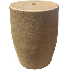 Shagreen Garden Stool or Bench, Taupe