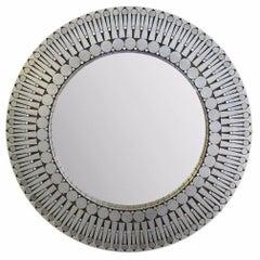 Raf Verjans Round Wall Mirror, circa 1970
